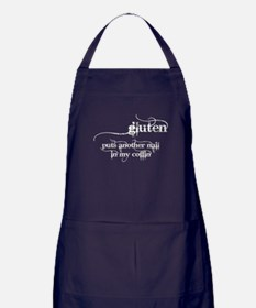 gluten puts another nail in my coffin Apron (dark)
