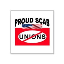 "ANTI-UNION Square Sticker 3"" x 3"""