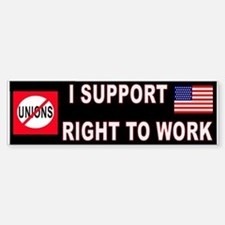 ANTI-UNION Bumper Bumper Sticker