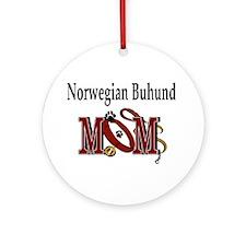 Norwegian Buhund Mom Ornament (Round)
