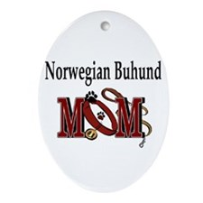 Norwegian Buhund Mom Oval Ornament