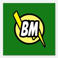 """Green Best Man button Square Car Magnet 3"""" x 3"""""""