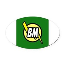 Green Best Man button Oval Car Magnet