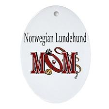 Norwegian Lundehund Mom Oval Ornament