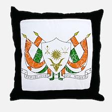 Niger Coat Of Arms Throw Pillow