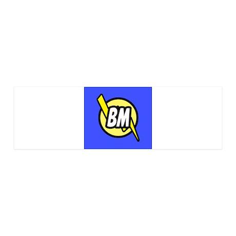 Blue Best Man Button 36x11 Wall Decal