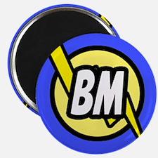 Blue Best Man Button Magnet
