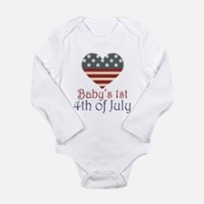 Baby's 4th of July Long Sleeve Infant Bodysuit