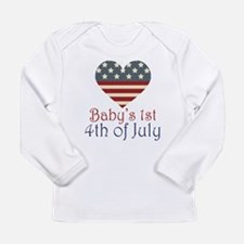 Baby's 4th of July Long Sleeve Infant T-Shirt
