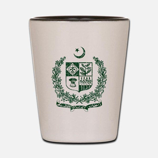 Pakistan Coat Of Arms Shot Glass