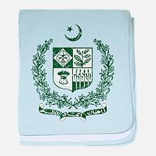 Pakistan Coat Of Arms baby blanket