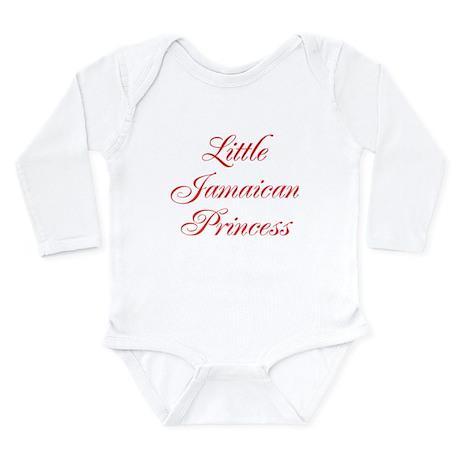 Little Jamaican Princess Long Sleeve Infant Bodysu