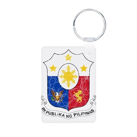 Philippines Coat Of Arms Aluminum Photo Keychain