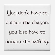 Outrun The Dragon Tile Coaster