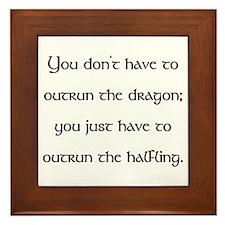 Outrun The Dragon Framed Tile