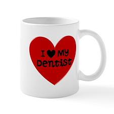 I Love My Dentist Heart Mug