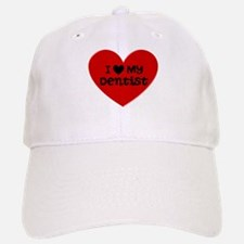 I Love My Dentist Heart Baseball Baseball Cap