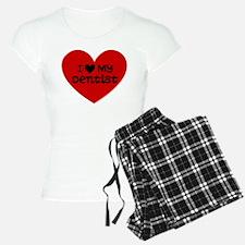 I Love My Dentist Heart Pajamas