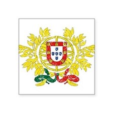"""Portugal Coat Of Arms Square Sticker 3"""" x 3"""""""