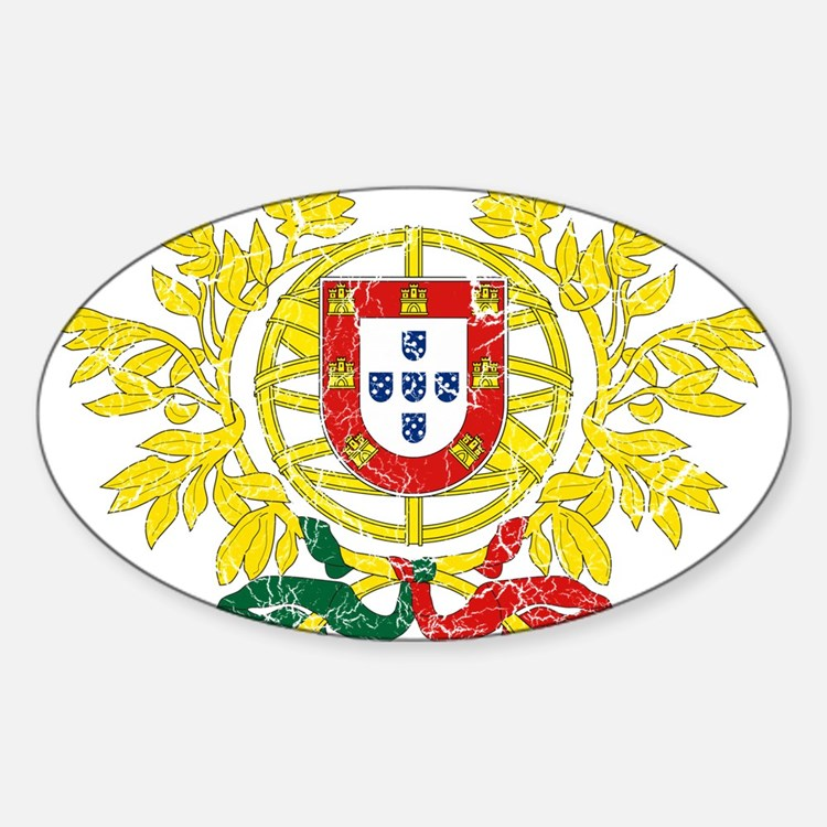 Portugal Coat Of Arms Sticker (Oval)