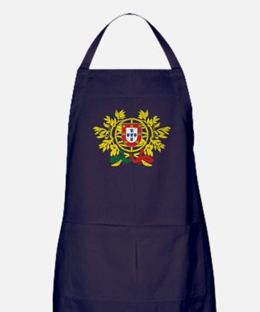Portugal Coat Of Arms Apron (dark)