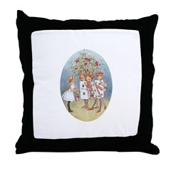 Painting Roses - Throw Pillow