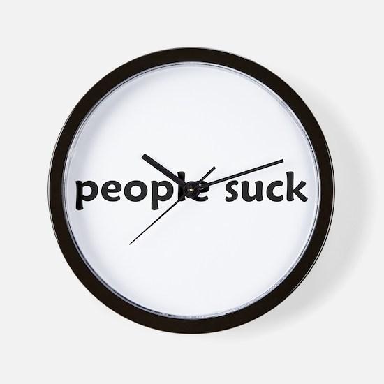 people suck - Wall Clock