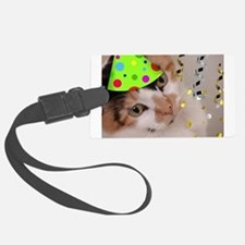 Calico Cat Birthday Party Luggage Tag