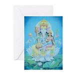 Ganesha with Consort Cards (6)