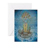 Vishnu on Shesha Cards (6)