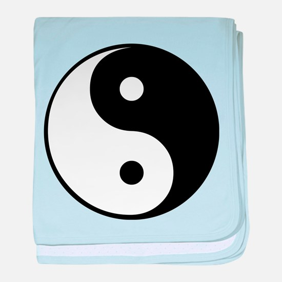 Unique Yin yang baby blanket