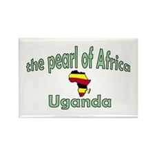 Pearl of Africa Rectangle Magnet