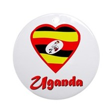 I Love Uganda Ornament (Round)