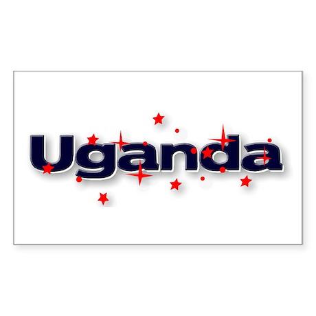 Uganda Goodies Rectangle Sticker