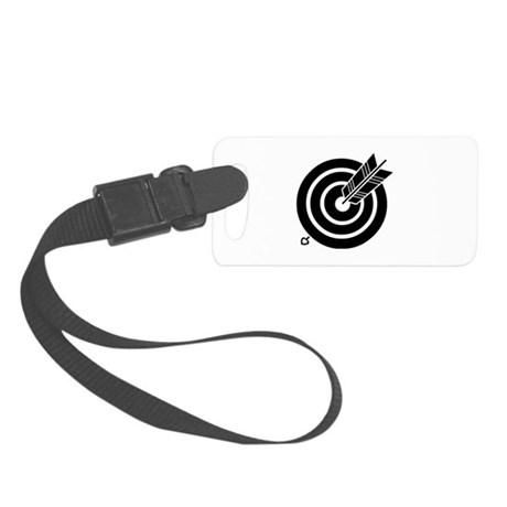 Arrow hit a round target Small Luggage Tag