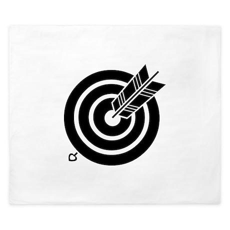 Arrow hit a round target King Duvet