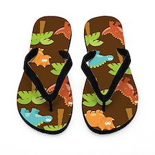 Dinosaur Prehistoric Jungle Flip Flops