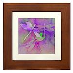 dragonflies in lavender, blue green framed tile