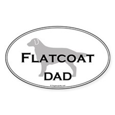 Flat-Coated Retriever DAD Oval Decal