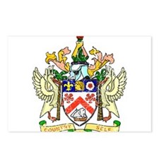 Saint Kitts Nevis Coat Of Arms Postcards (Package