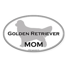 Golden Retriever MOM Oval Decal
