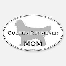 Golden Retriever MOM Oval Decal