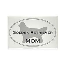 Golden Retriever MOM Rectangle Magnet