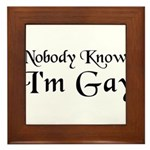 Come Out in This Framed Tile
