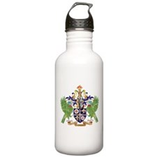 Saint Lucia Coat Of Arms Water Bottle