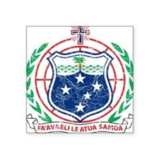 "Samoa Coat Of Arms Square Sticker 3"" x 3"""