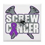 Screw GIST Cancer Tile Coaster