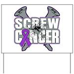 Screw GIST Cancer Yard Sign