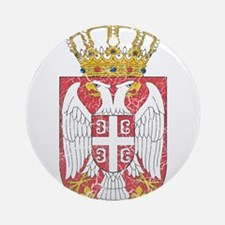 Serbia Lesser Coat Of Arms Ornament (Round)