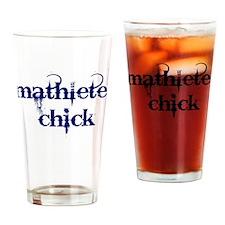 Mathlete Chick Drinking Glass